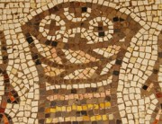 mosaic from church of the miracle of the multiplication of the loaves and fish